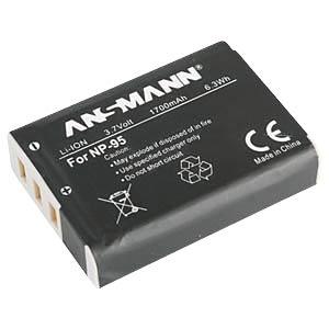 Li-Ion Kamera-Akku 3,7V 1700mAh ANSMANN 1400-0022