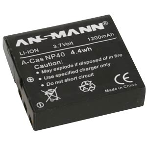 Li-Ion Battery 3,7V 1200mAh ANSMANN 5022303/05