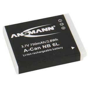 Battery for Canon Digital Cameras ANSMANN 5044453