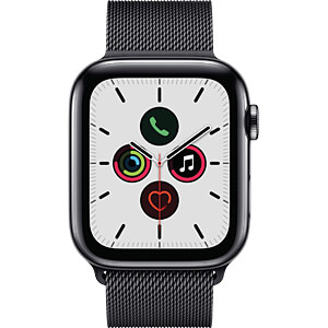 APPLE MWWL2FD/A - Apple Watch S5 Stahl 44mm LTE sw (Milanaise)