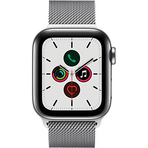 APPLE MWX52FD/A - Apple Watch S5 Stahl 40mm LTE Silber (Milanaise)