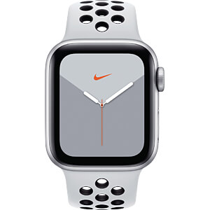 APPLE MX3C2FD/A - Apple Watch S5 Nike+ Alu 40mm LTE Silber (Sport platin/sw)