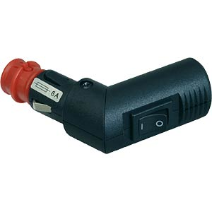 Universal automobile plug, can be angled, up to 8 A, switch PROCAR 67747200