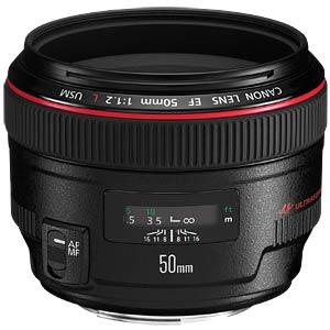 Objektiv: 50mm - F1,2 - EF CANON 1257B005