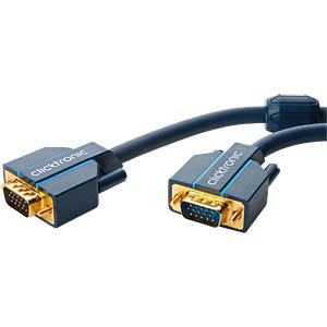 Clicktronic Casual VGA connecting cable 15 m CLICKTRONIC 70357