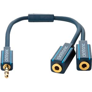 MP3 Y-Adapter Kabel, 0,1 m CLICKTRONIC 70491