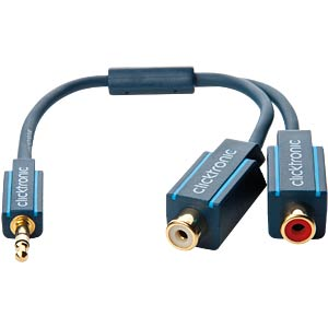 MP3 Y-Adapter Kabel, 0,1 m CLICKTRONIC 70492