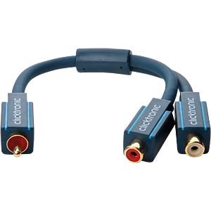 Y-Cinch Adapter Kabel, 0,1 m CLICKTRONIC 70494