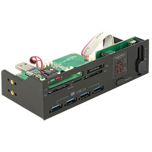 Card Reader, intern, 5,25, USB 3.0, Multi-Frontpanel DELOCK 91494