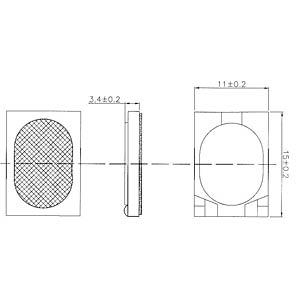 Plastic speaker, soldered connection EKULIT 106033
