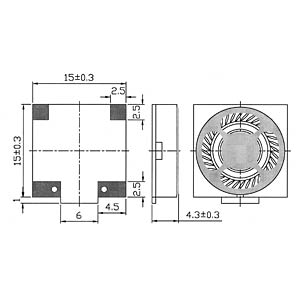 Kunststofflautsprecher, SMD EKULIT 107034