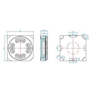 Plastic speaker, SMD EKULIT 107037