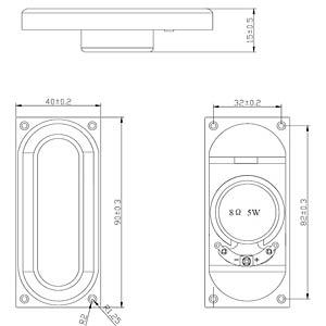 Kleinlautsprecher LSM-4090A, 5W, 8Ohm EKULIT 130070