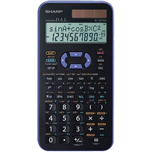 Scientific school calculator SHARP EL-531XG-VL