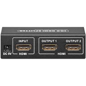 HDMI Splitter, HDMI Buchse auf 2x HDMI Buchse GOOBAY 60814