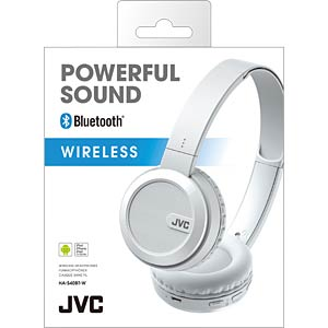 Bluetooth Kopfhörer, On Ear, weiß JVC HA-S40BT-W-E