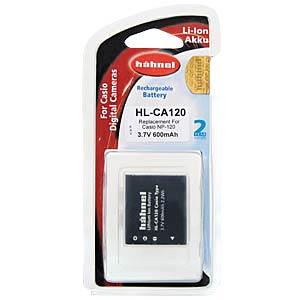 Akku, Digitalkamera, kompatibel, 600 mAh, Casio HÄHNEL HL-CA120