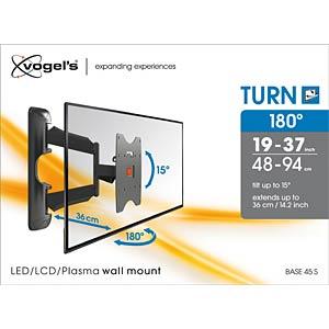 TV Wandhalterung, neigbar, schwenkbar, 19- 37, schwarz VOGELS 73201973