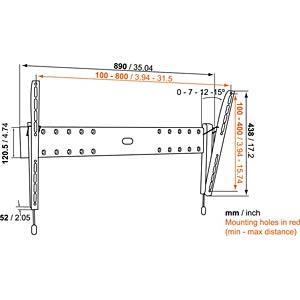 """Wandhalter für TVs von 102 - 165 cm (40-65"""") VOGELS 73201979"""
