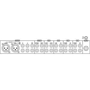 Stereo-DJ-Mischpult IMG STAGE LINE MPX-205/SW