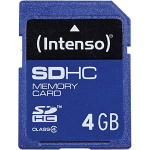 SDHC card, 4 GB, Intenso INTENSO 3401450