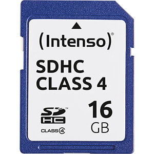 INTENSO SDHC16G - SDHC-Speicherkarte 16GB