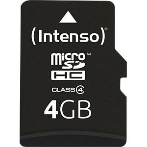 INTENSO MSDHC4G - MicroSDHC-Speicherkarte 4GB