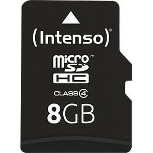 INTENSO MSDHC8G - MicroSDHC-Speicherkarte  8GB