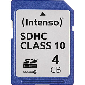 INTENSO 3411450 - SDHC-Speicherkarte 4GB