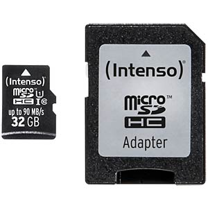 Micro-SDHC-kaart 32GB, Intenso UHS-I professional INTENSO 3433480