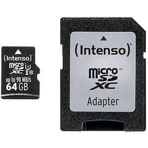MicroSDXC-Card 64GB - Intenso UHS-I Professional INTENSO 3433490
