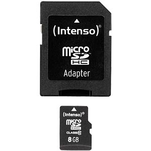MicroSDHC-Card 8GB - Intenso Class 10 INTENSO 3413460