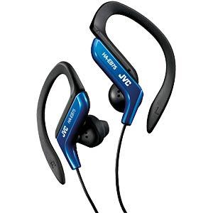 Sport-style earclip stereo earphones, blue JVC HA-EB75-A-E