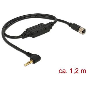 NAVILOCK 62936 - M8 Buchse ser. wasserd. > 3,5 mm 3 Pin Klinke 90° LVTTL (3.3 V)