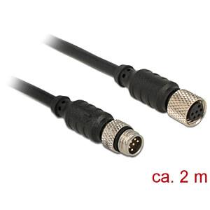 NAVILOCK 62972 - M8 Stecker > M8 Buchse wasserd. 2 m für M8 GNSS Empfänger