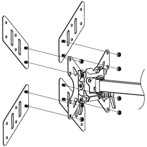 Univ.VESA - Adapter 200x200 bis 400x400 TECHLY ICA-LCD-G11A