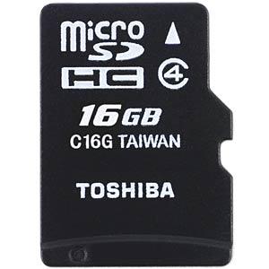MicroSDHC-Card 16GB - Toshiba Class 4 TOSHIBA THN-M102K0160M2