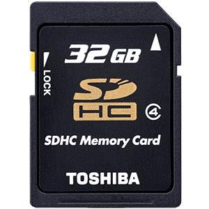 SDHC-Card 32GB, Toshiba, Class 4 TOSHIBA THN-N102K0320M4