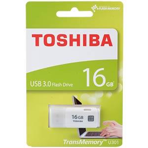 USB-Stick, USB 3.0, 16 GB, U301 Weiß TOSHIBA THN-U301W0160E4