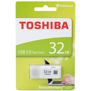 USB3.0-Stick 32GB Toshiba U301 Weiß TOSHIBA THN-U301W0320E4