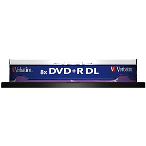 Verbatim DVD+R 8.5 GB, 10-disc cake box VERBATIM 43666