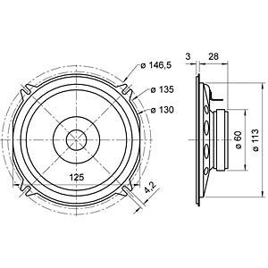 Breitbandlautsprecher FR 12, 15 W, 8 Ohm VISATON 2061