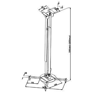 Deckenhalterung für Projektor VALUELINE VLM-PM20