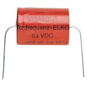 Tonfrequenzelko, 220 µF, 63 V VISATON 5392