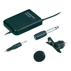 Elektret dasspeldmicrofoon MONACOR