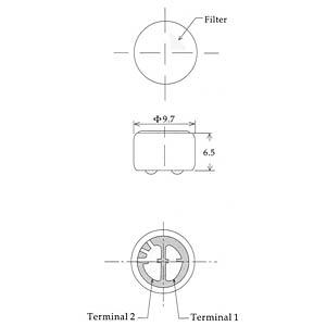 Microphone capsule, solder connection EKULIT 200191
