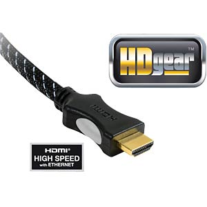 High-speed HDMI cable plug/plug, 1.5 m HDGEAR HC0065-015B