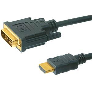 19 pol HDMI-Stecker >18+1 DVI-D Stecker 2,0m FREI