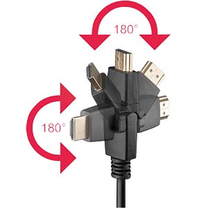 High Speed HDMI® with Ethernet / 2x180° /2,0m FREI