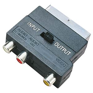 Scart plug to 3 RCA socket with switch FREI
